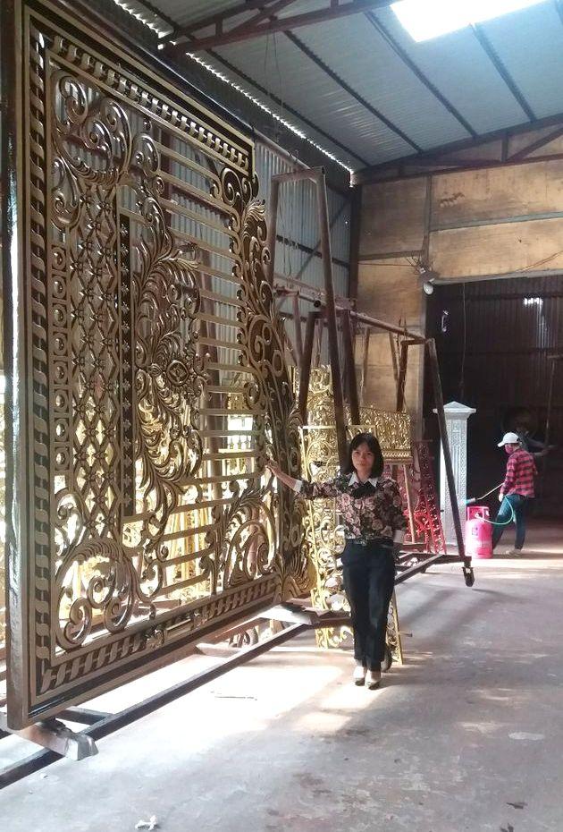Cổng nhôm đúc đẹp, cổng đẹp