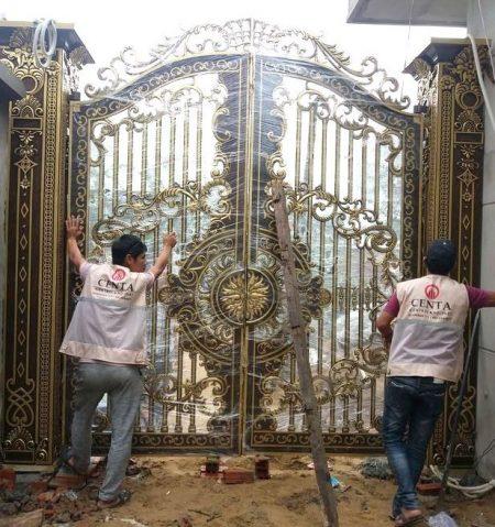 Cổng nhôm đúc, lan can nhôm đúc, cầu thang nhôm đúc, ban công nhôm đúc, cổng đẹp, ban công đẹp, hợp kim nhôm đúc, cổng Biệt thự