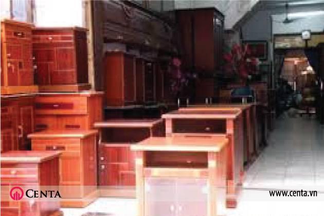 Kệ hộc gỗ tự nhiên làng nghề trong trang trí nội thất