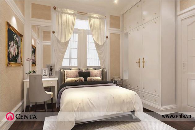 Thiết kế nội thất phòng ngủ nhẹ nhàng