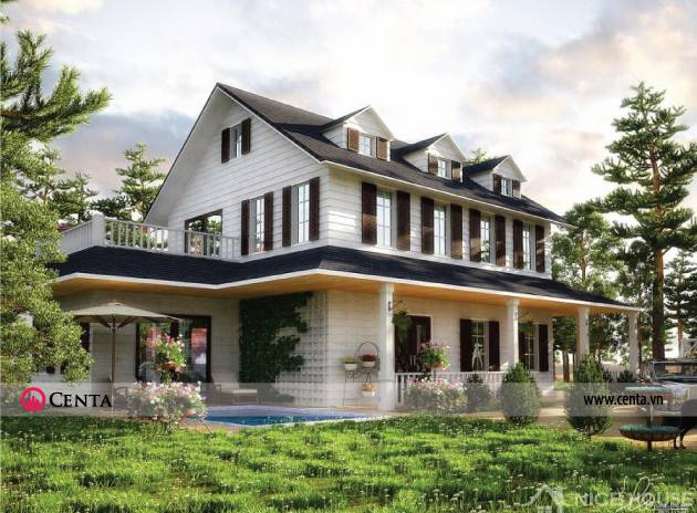 Thiết kế biệt thự nghỉ dưỡng phong cách hiện đại