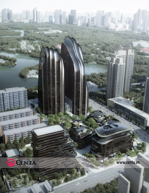 02.-Thiet-ke---kien-truc--khu-phuc-hop-Chaoyang-Park-Plaza--Bac-Kinh-Trung-Quoc  www.centa.vn