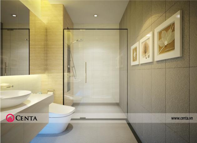 Thiết kế Nội thất phòng wc Vinhomes Ocean Park