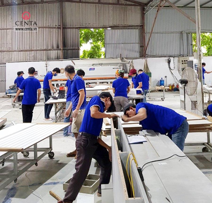Xưởng nội thất gỗ công nghiệp gỗ tự nhiên cho thi công dự án nội thất xưởng mộc
