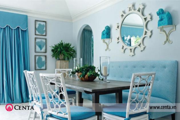 Màu sắc trong thiết kế nội thất - màu xanh dương