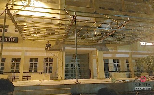 Thi công kếu cấu mái khung thép