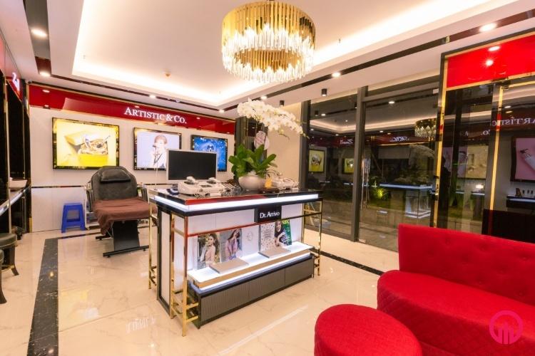Thi công nội thất shop mỹ phẩm cao cấp tại Hà Nội