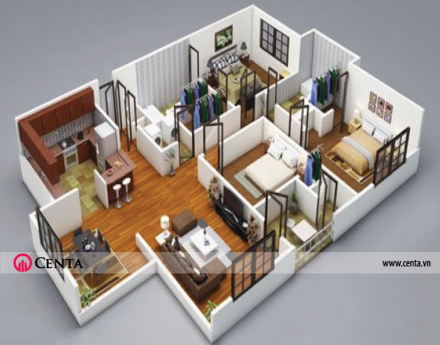 04.-san-go-chung-cu-3-phong-ngu www.centa.vn