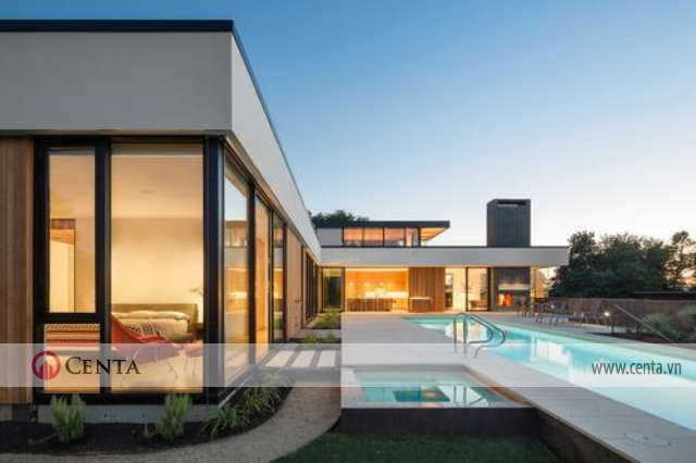 Thiết kế biệt thự có bể bơi Thiết kế biệt thự đẹp phong cách Hiện đại