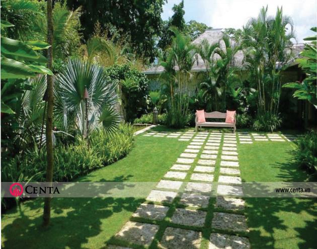 Mẫu tiểu cảnh cho nhà biệt thự đẹp 2020 vườn rộng cây cảnh