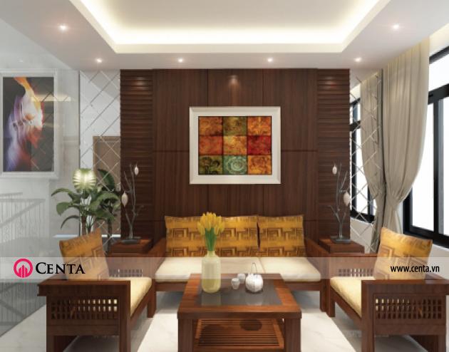 12.-Thiet-ke-noi-that-phong-sinh-hoat-biet-thu-vuon  www.centa.vn
