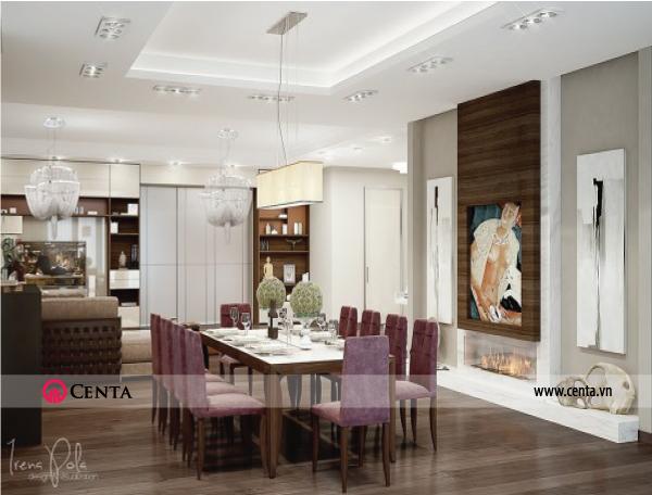 Thiết kế nội thất Phòng bếp căn hộ chung cư đẹp phong cách hiện đại