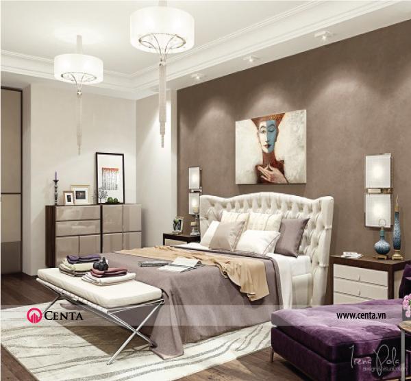 Thiết kế nội thất Phòng ngủ căn hộ chung cư đẹp phong cách hiện đại