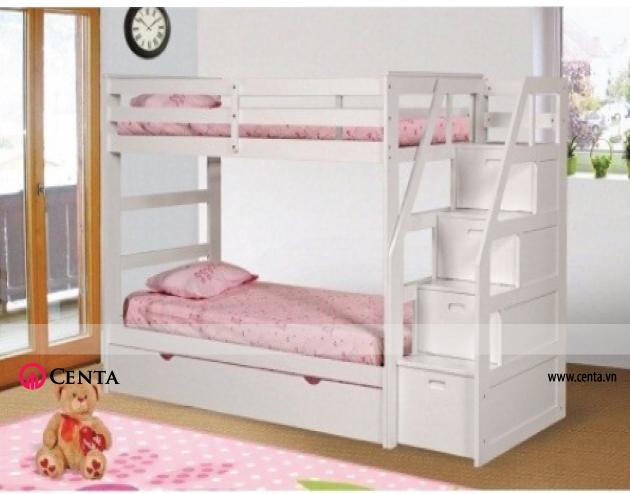Mẫu giường tầng đơn giản nhưng đáng yêu