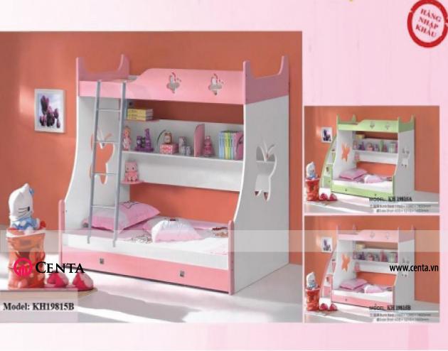 Giường tầng đẹp Đáng yêu cho bé gái