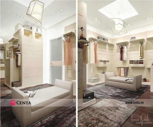 Thiết kế nội thất Phòng thay đồ căn hộ chung cư đẹp