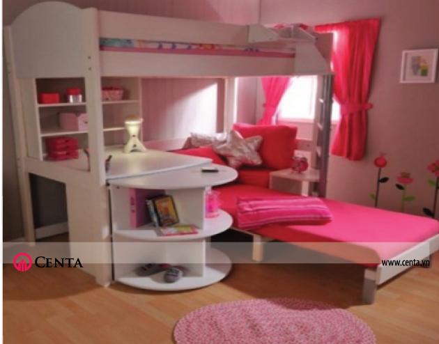 thiết kế các mẫu giường tầng đa năng cho phòng của trẻ