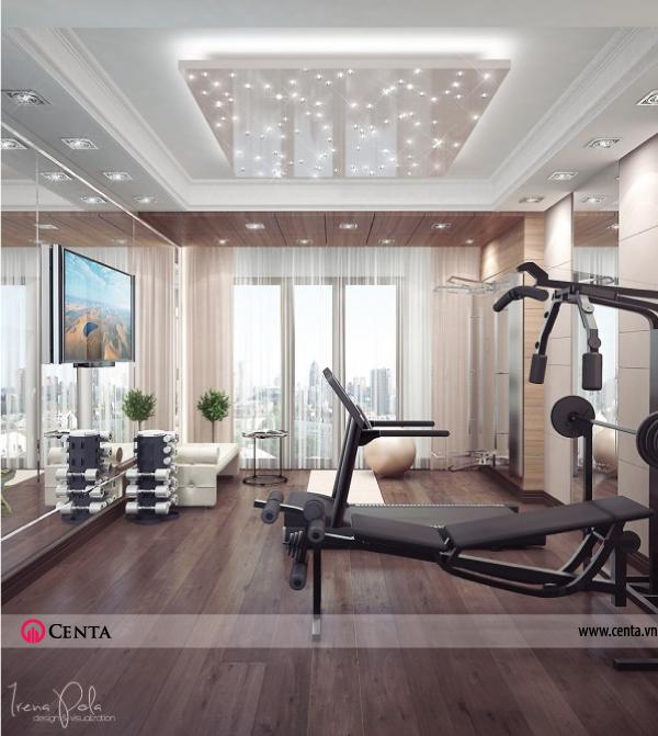 Thiết kế nội thất Phòng gym căn hộ chung cư đẹp