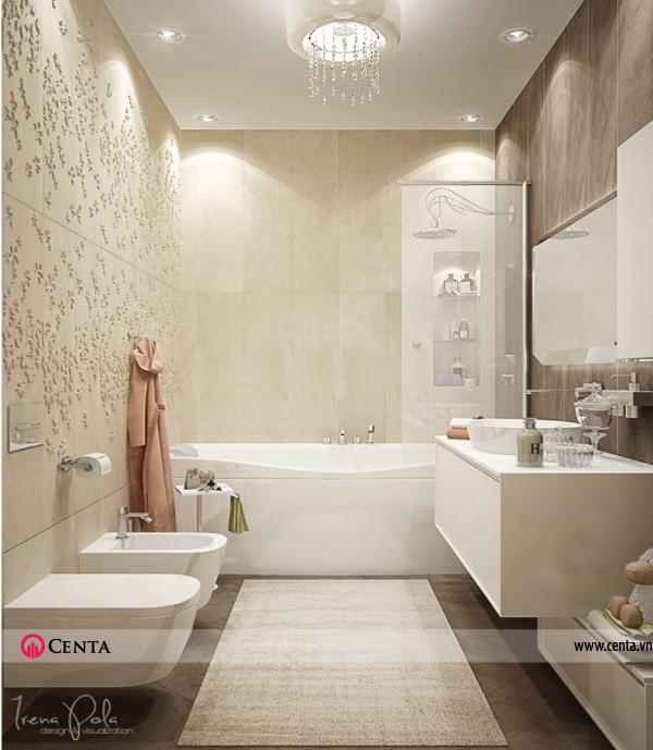 Thiết kế nội thất Phòng tắm căn hộ chung cư đẹp