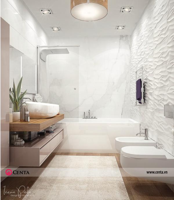 Thiết kế nội thất Phòng WC căn hộ chung cư đẹp