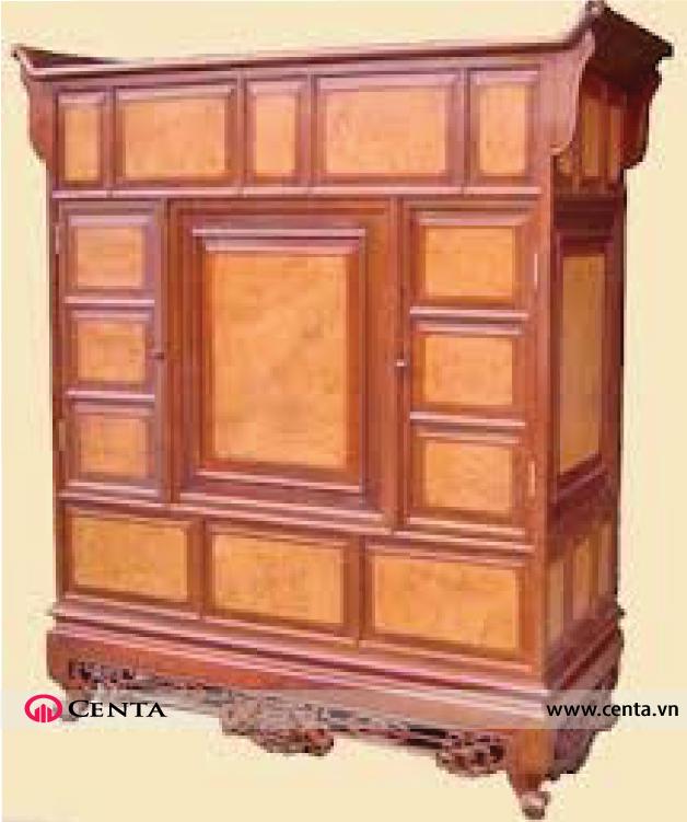 Mẫu tủ thờ kết hợp dấu ấn hiện đại
