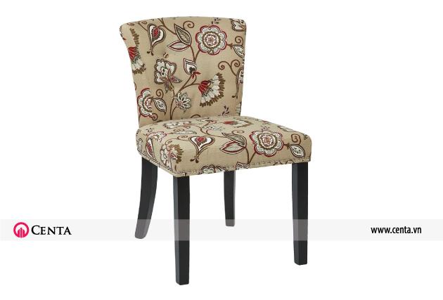 Mẫu ghế đẹp bọc nỉ hoa văn