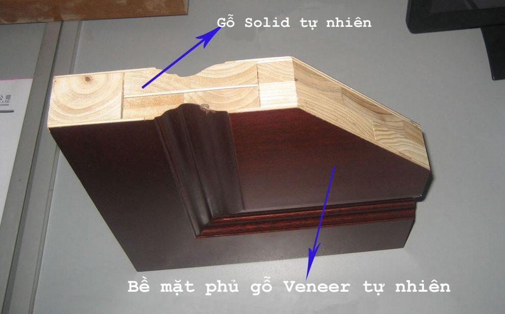 Cấu tạo cửa gỗ công nghiệp bề mặt phủ veneer