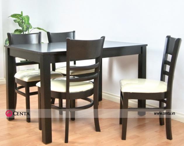 Mẫu bàn ghế ăn gỗ tự nhiên đẹp, phong cách hiện đại