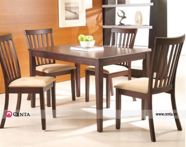 Phong cách đơn giản được nhiều người ưa chuộng bàn ghế ăn màu nâu