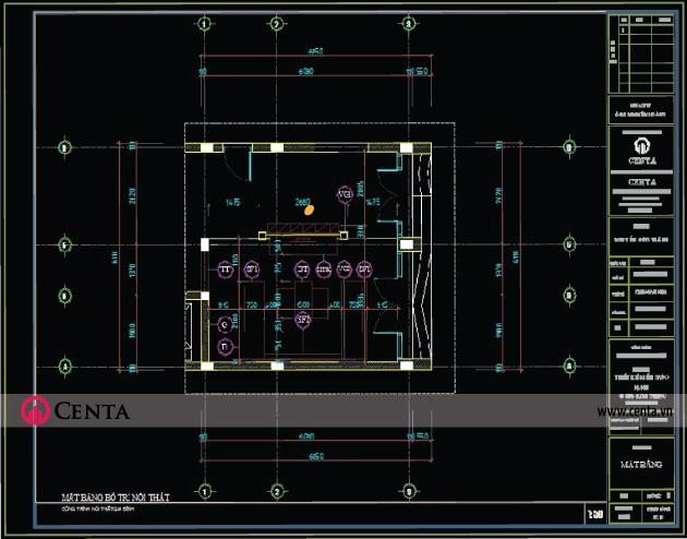 Thiết kế nội thất phòng khách www.centa.vn