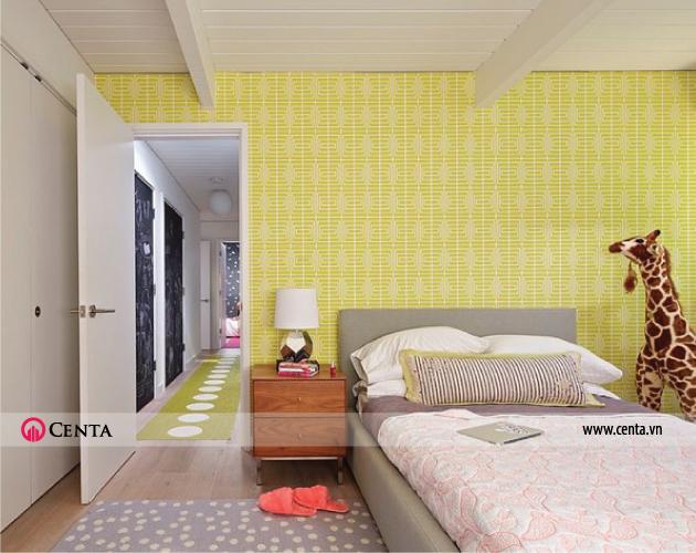 Mẫu tranh tường phòng ngủ cho bé gái