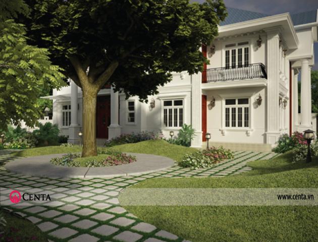 Thiết kế tiểu cảnh sân vườn cho biệt thự đẳng cấp
