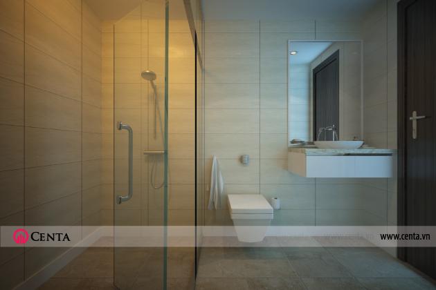 Thiết kế Nội thất Phòng WC - Căn hộ Vinhomes Ocean Park.