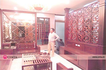 Lắp đặt nội thất gỗ hương Biệt thự
