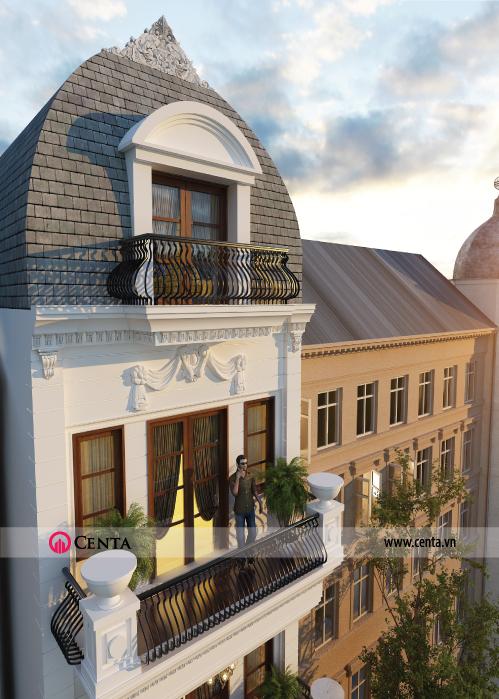 thiết kế nhà phố biệt thự tân cổ điển
