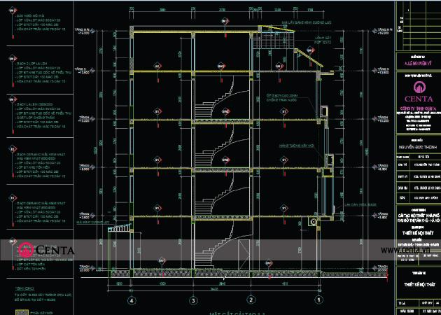 Bản vẽ chỉ định vật liệu hoàn thiện kiến trúc mặt ngoài