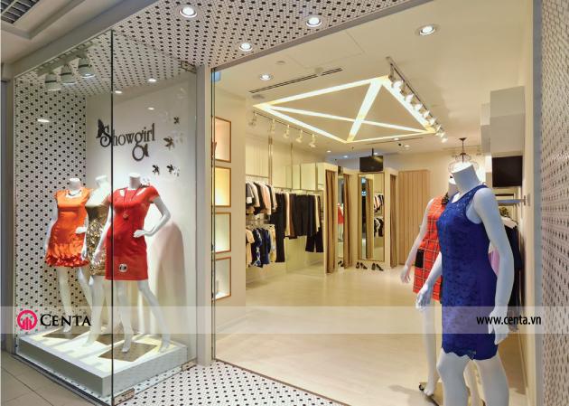 Thiết kế thi công nội thất shop quần áo