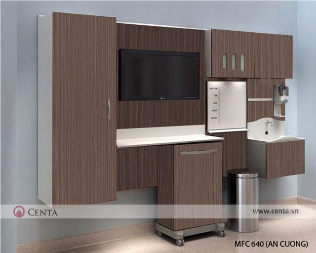 Thiết kế tủ làm việc cho phòng khám bằng gỗ công nghiệp An Cường