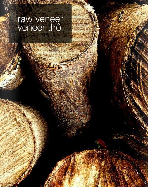 Gỗ veneer được tạo từ gỗ tự nhiên