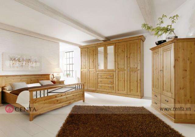 Nội thất phòng ngủ phong cách nội thất Malta gỗ tự nhiên