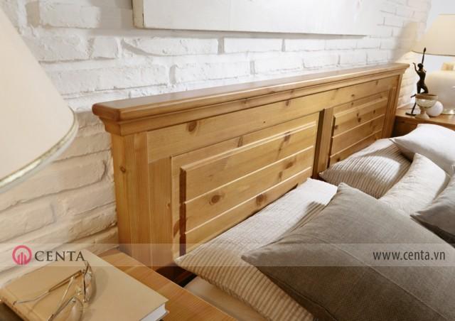 phong cách nội thất Malta giường ngủ gỗ tự nhiên đẹp