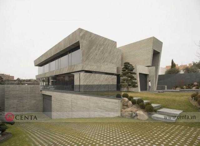 Thiết kế Kiến trúc Biệt thự Box house không gian mở ở Madrid