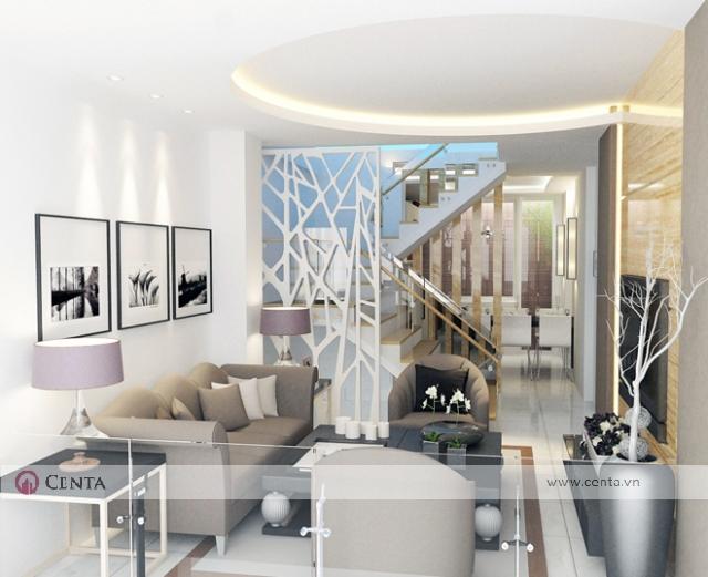 nhà ở kết hợp văn phòng thiết kế nội thất văn phòng và phòng khách