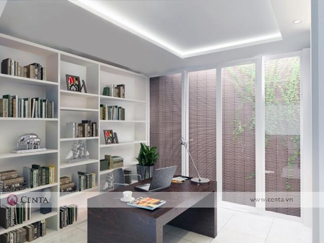 Thiết kế nội thất nhà ở làm văn phòng đẹp