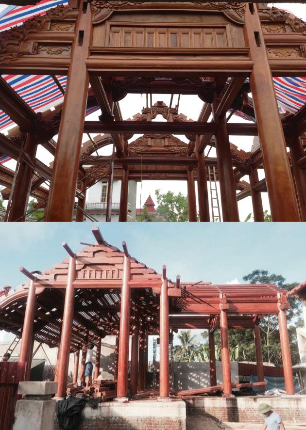 Kiến trúc nhà gỗ kẻ truyền mang đậm nét văn hóa, tôn giáo, dân Bắc Bộ