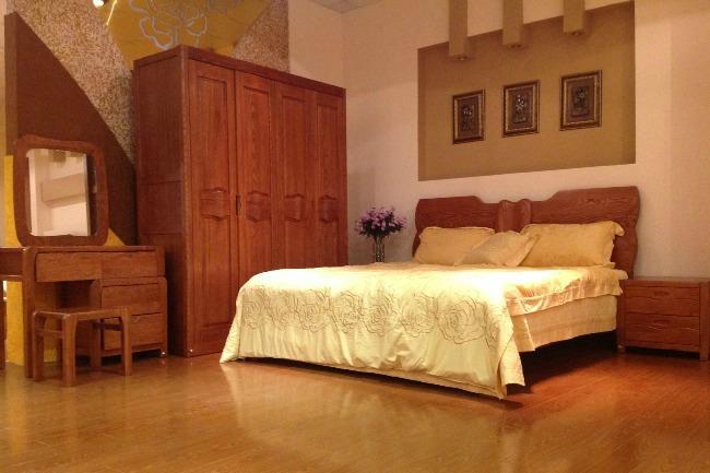 Nội thất phòng ngủ nhập khẩu gỗ tự nhiên giường tủ áo bàn trang điểm