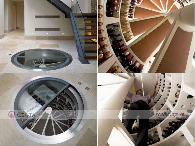 Hầm rượu vang này được thiết kế như hình xoắn ốc