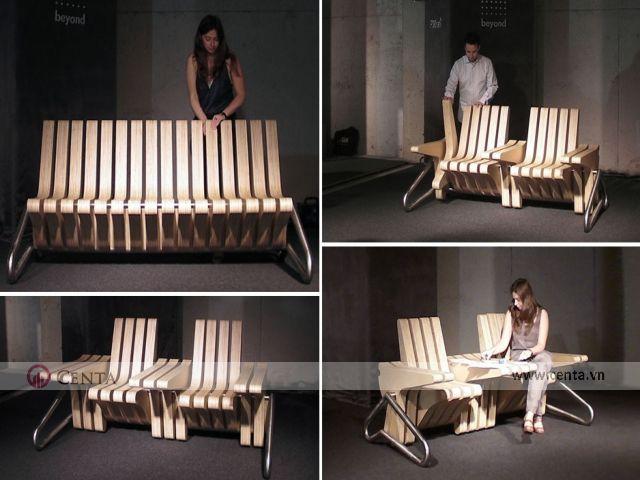 Thiết kế hiện đại này phục vụ cho nhu cầu sử dụng ghế ngoài trời