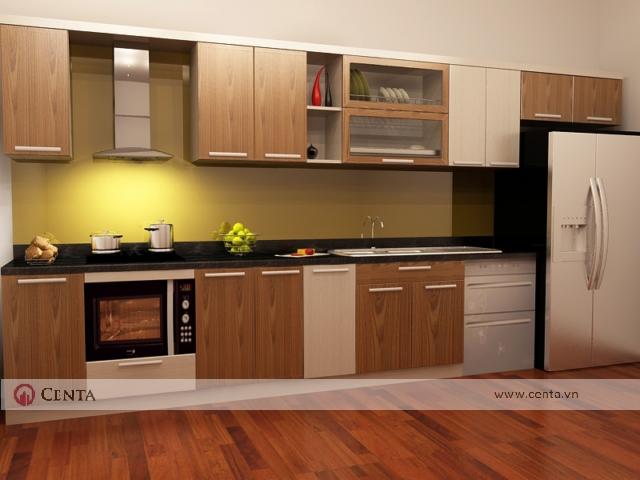 tủ bếp laminate an cường lò vi sóng hút mùi giá bát đĩa tủ lạnh