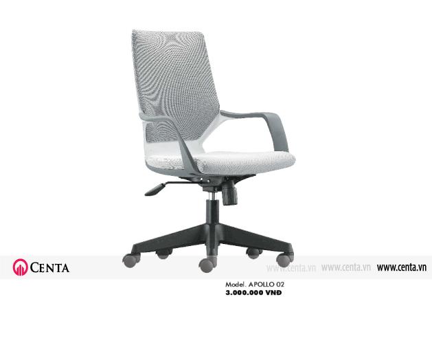 Ghế xoay màu trắng nội thất văn phòng